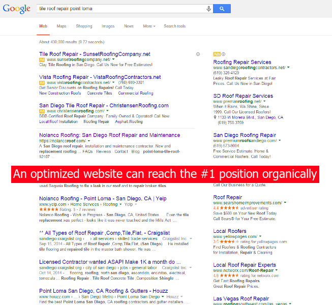 search engine optimized responsive website update